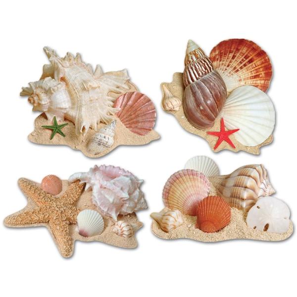 Cutout Set Muscheln - Strandparty + Unterwasser Deko