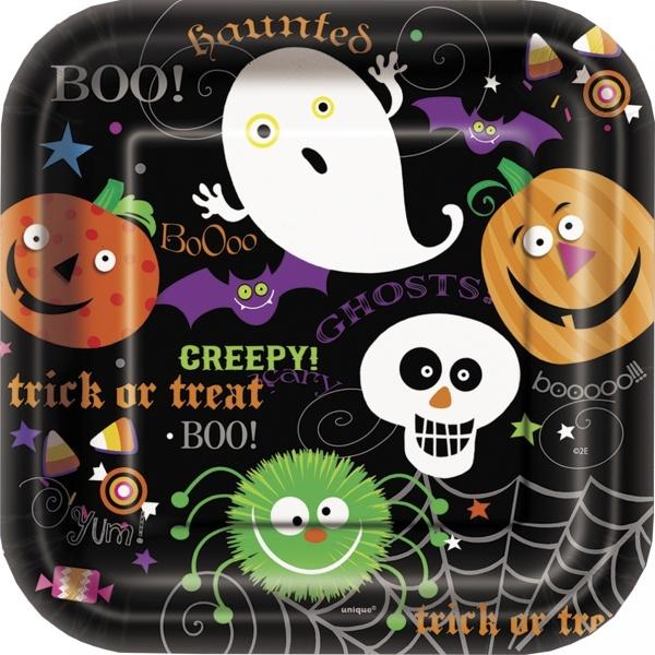 Pappteller Spooky Smiles, 18cm, 10er Pack