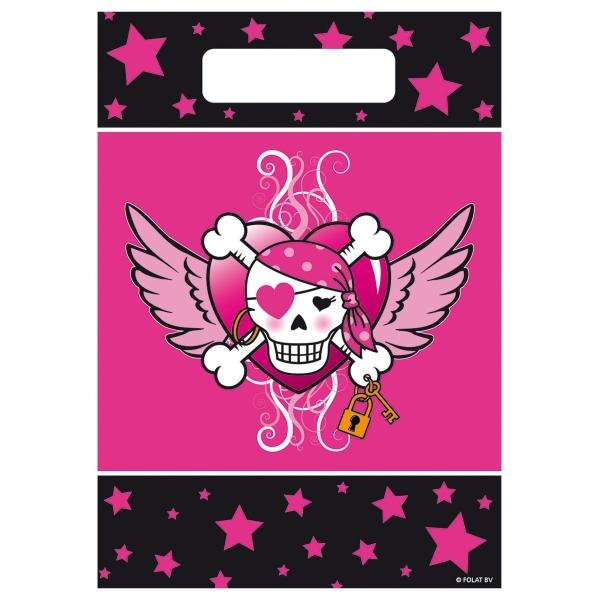 Mitbringseltüten Piraten-Girl, 8er Pack