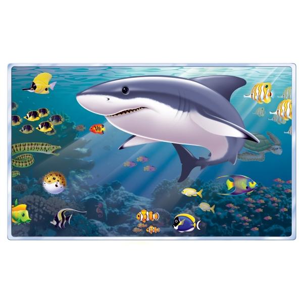 Dekofolie Tiefsee Aquarium - Maritime Beachparty Deko