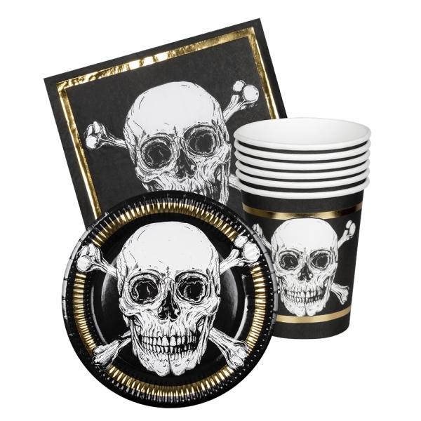 Piratenparty-Tischset - Piraten-Tischdeko