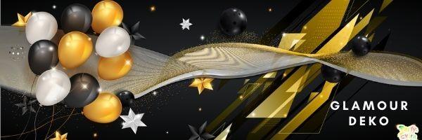 Glamour Deko - glanzvolle Glitzerdeko - festlich feiern M