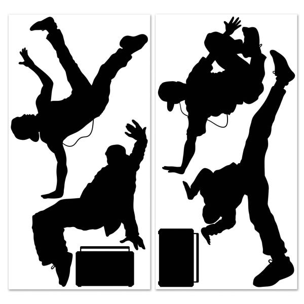 Dekofolien Breakdance - 80er Jahre Deko