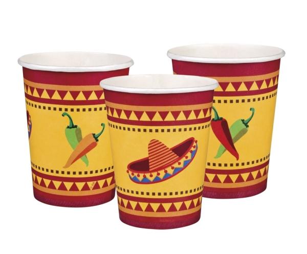 Pappbecher Fiesta Mexicana - Mexikoparty Tischdeko