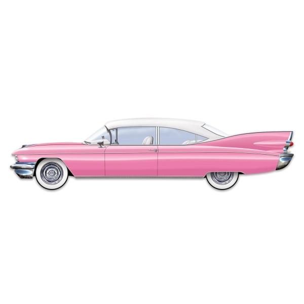 Riesen-Wanddeko Pink Cadillac, 1,8 Meter lang