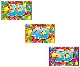 Party-Extra Dekofahne Jahreszahlen Geburtstagsdeko