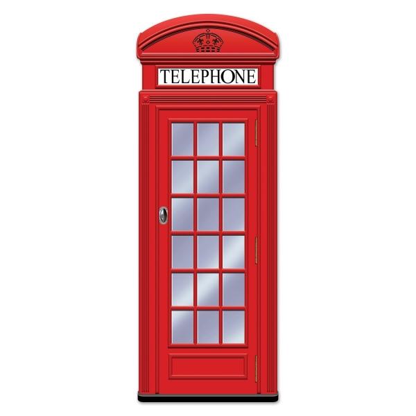 XL-Cutout Englische Telefonzelle, 150 cm