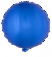 Folienballon rund, blau, 45 cm groß