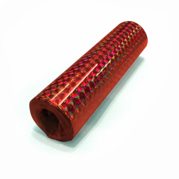 Luftschlangen, holographisch, rot - Glamour Deko