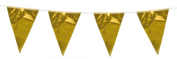 Mini-Wimpelkette Pure Gold - Goldene Glamour Deko