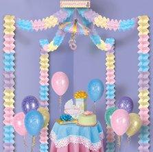 babyparty deko zur baby shower zur taufe party extra. Black Bedroom Furniture Sets. Home Design Ideas