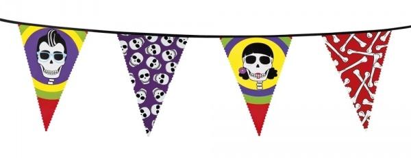 Wimpelkette Sugar Skull Mexikoparty - Dial de Los Muertos Deko