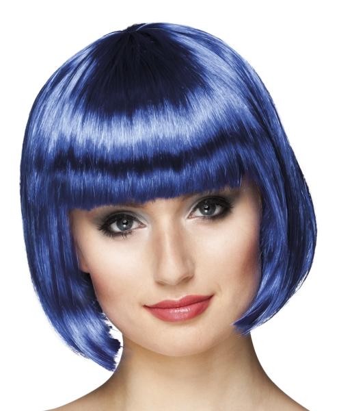 Perücke Cabaret, blau