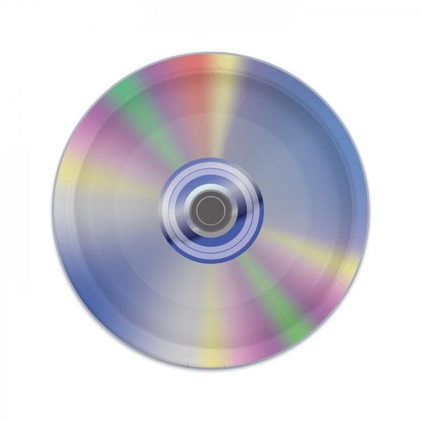 Pappteller CD - 90er Jahre Mottoparty Tischdeko
