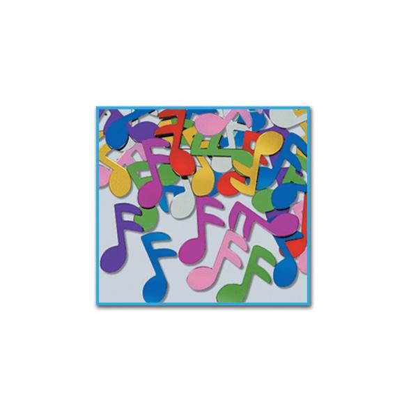 Party-Extra Tischkonfetti Bunte Noten - Musik Tischdeko
