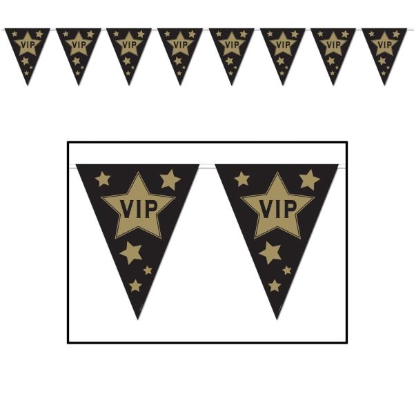 Wimpelkette VIP - Deko für den Star Deines Lebens