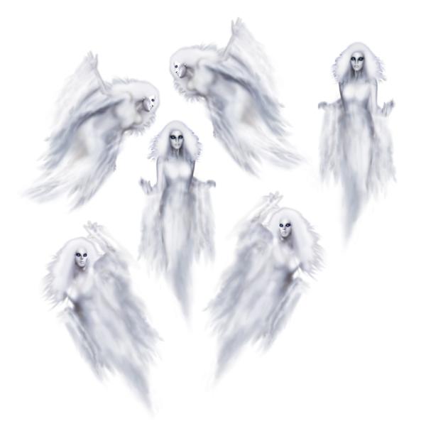 Party-Extra Dekofolie Mystische Geisterfrauen