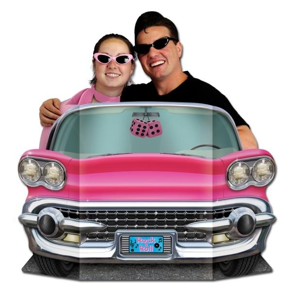 Riesen Pappaufsteller Pink Cadillac
