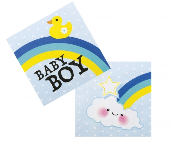 Servietten Baby Boy, 12er Pack