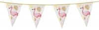 Folien-Wimpelkette Flamingo, 4 Meter