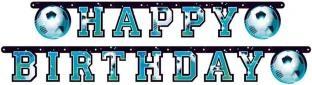 Happy Birthday-Girlande Fußball regiert die Welt