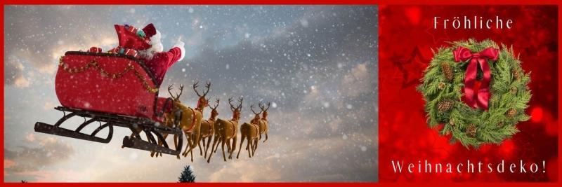 Party-Extra Froehliche Weihnachtsdeko