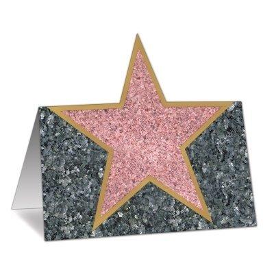 Platzkarten Walk of Fame - Hollywood Party Tischdeko