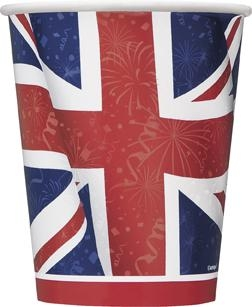 Pappbecher Very British, 8er Pack