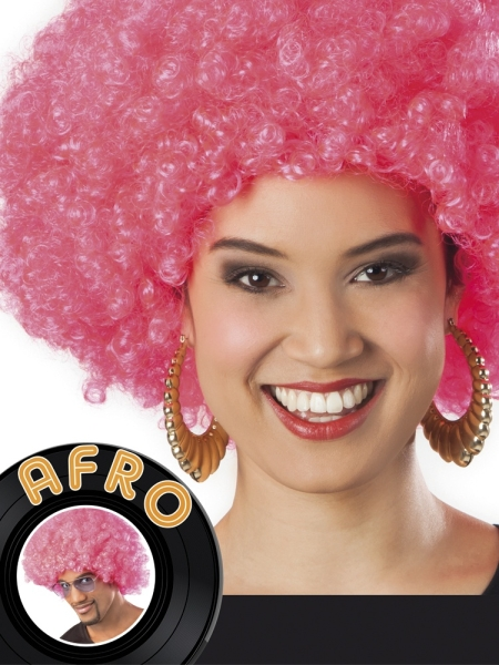 Party-Extra Pinke Afro-Perücke