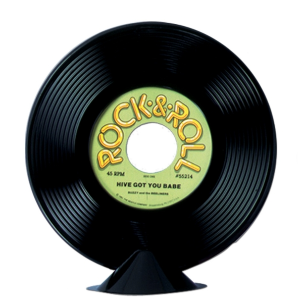 Tischdeko Single 45 RPM - Rock + Roll Deko