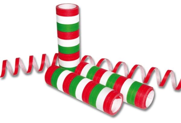 Party-Extra Luftschlangen rot-weiß-grün
