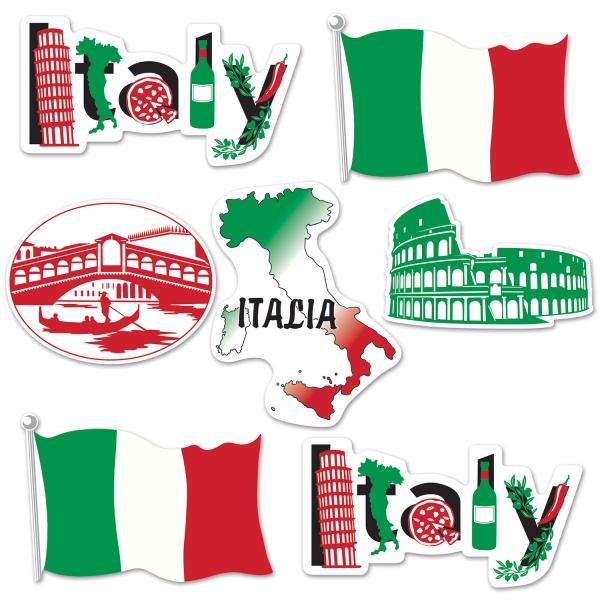 Cutout-Set Italienische Momente - Italien Deko