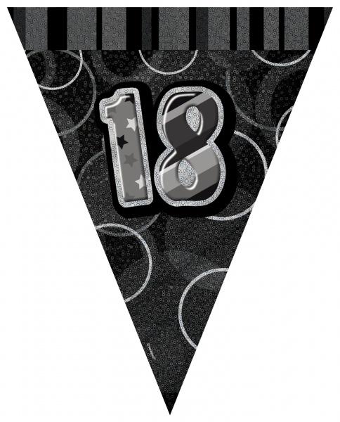 Zahlen-Wimpelkette Glamoutr Birthday 18