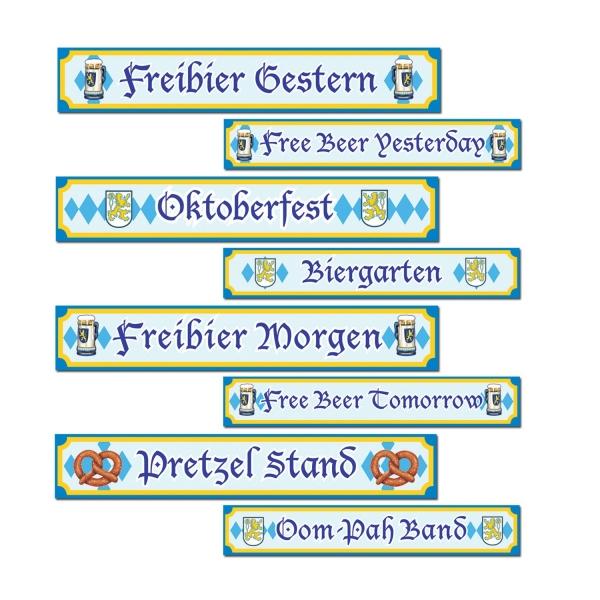 Volksfest Strassenschilder Cutout Set - Oktoberfest Deko