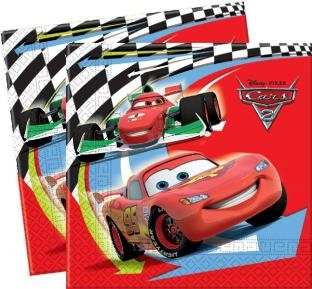 Party-Extra Servietten Cars, 20er Pack