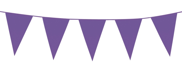 Party-Extra XL-Wimpelkette violett, 10 Meter