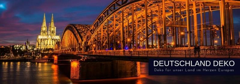 Deutschland Deko in schwarz-rot-gold D