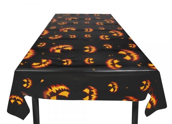 Plastik-Tischdecke Spooky Pumpkin - Horror Tischdeko