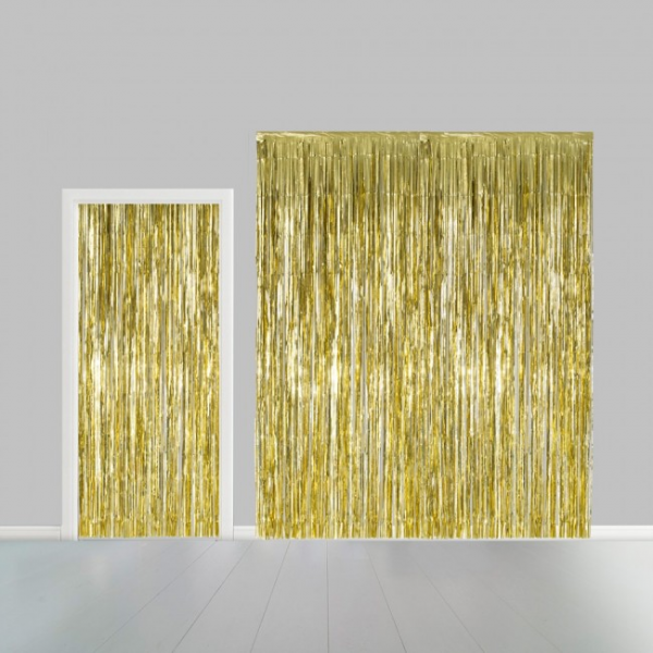 Tuervorhang Gold - Goldene Deko