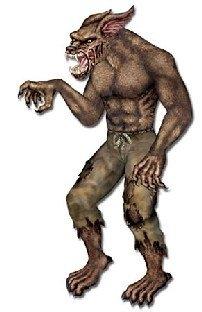 Riesen Cutout-Figur Werwolf - Gruselparty Halloween Deko
