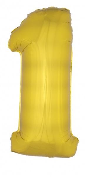 XXL-Folienballon Zahlen, gold, 102cm groß