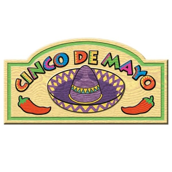 Dekoschild Cinco de Mayo - mexikanische Deko