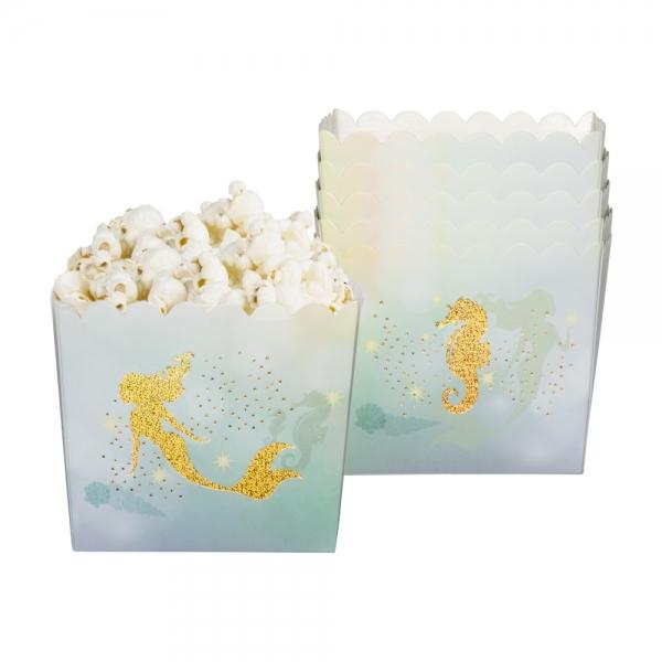 Papierschüssel Meerjungfrau, 6er Set