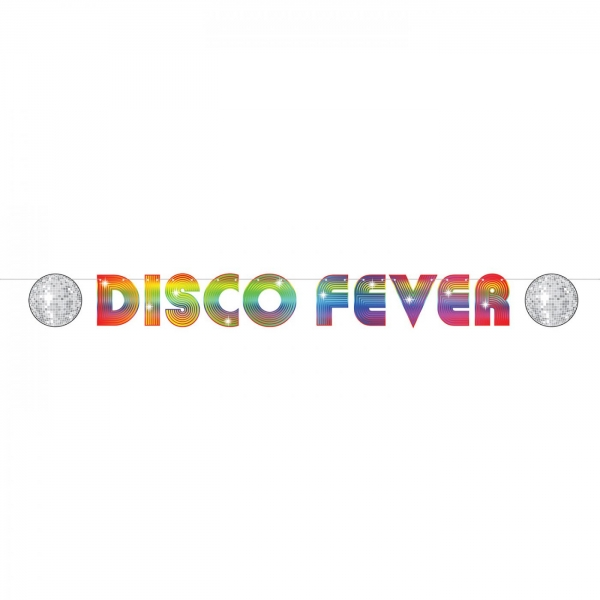 Girlande Disco Fever - Discoparty Deko