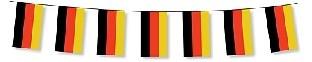 Papier-Flaggenkette Deutschland, 5 Meter, 20 Fahnen 12x24cm
