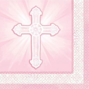 Servietten Christliche Feier, rosa