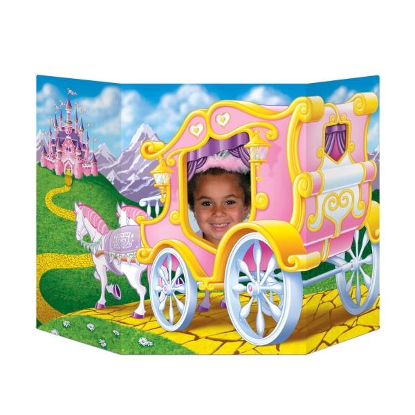 Fotowand Aufsteller Prinzessinnen Kutsche
