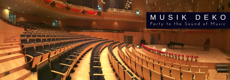 Musik Deko - Noten, Instrumente + Musiker Party to the Sound of Music