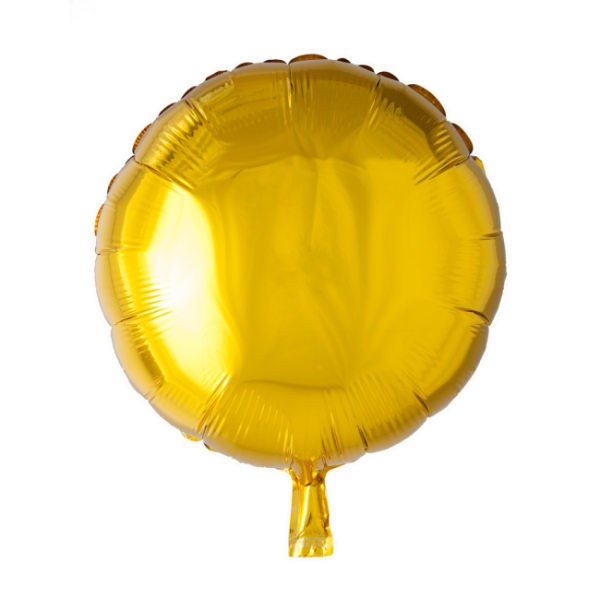 Folienballon rund, gold, 45 cm - Goldene Deko