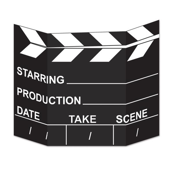 Party-Extra Riesen Pappaufsteller Regieklappe - Filmdeko